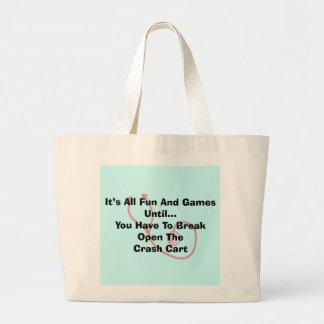 Funny Nurse Tote Bag Crash Cart