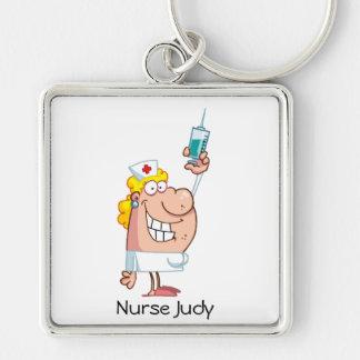 Funny Nurse-with-syringe shot Keychain