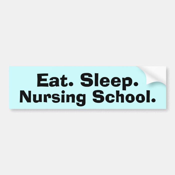 Funny Nursing Student Gifts Bumper Sticker
