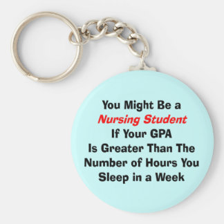 Funny Nursing Student Gifts Keychain