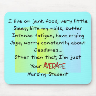 Funny Nursing Student Gifts Mouse Pad