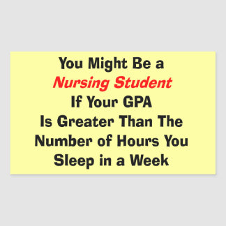 Funny Nursing Student Gifts Rectangular Stickers