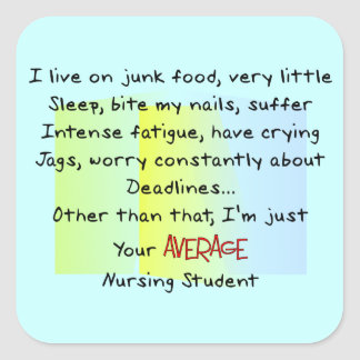 Funny Nursing Student Gifts Square Sticker