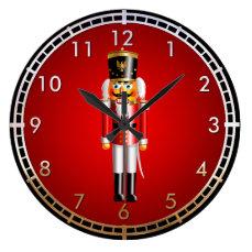 Funny Nutcracker Toy Soldier Cartoon Large Clock