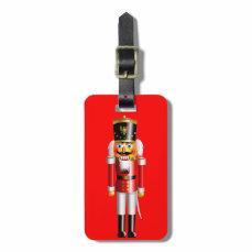 Funny Nutcracker Toy Soldier Luggage Tag