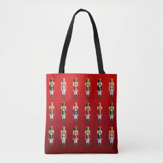 Funny Nutcracker Toy Soldiers Cartoon Tote Bag