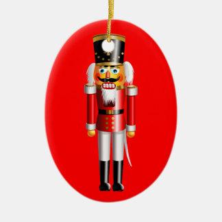 Funny Nutcracker Toy Soldiers Ceramic Ornament
