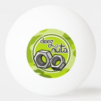 Funny Nuts; bright green camo, camouflage Ping Pong Ball