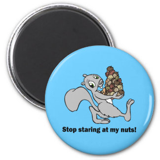 Funny nuts squirrel magnet