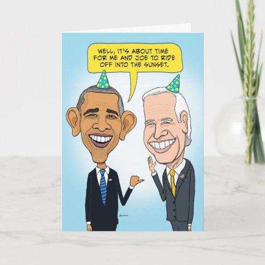 Funny Obama And Biden Farewell Birthday Card Zazzle