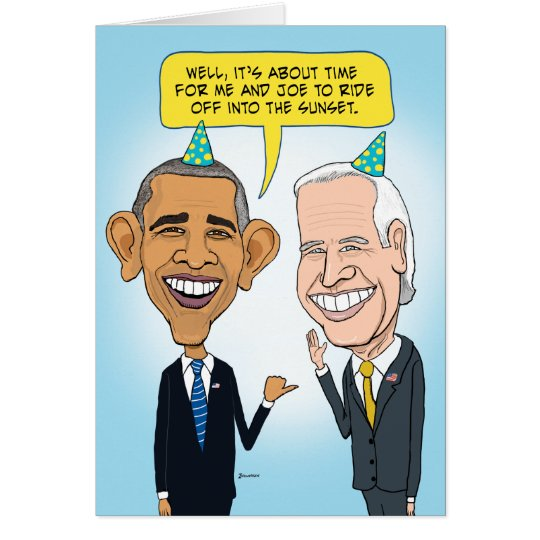 Funny Obama and Biden Farewell Birthday Card – Funny Obama Birthday Cards