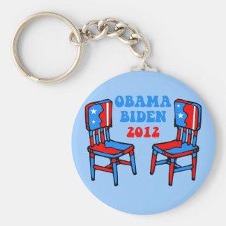 funny Obama Biden Basic Round Button Keychain