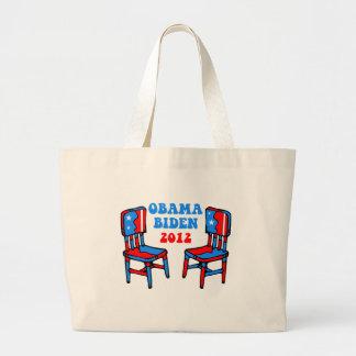 funny Obama Biden Jumbo Tote Bag