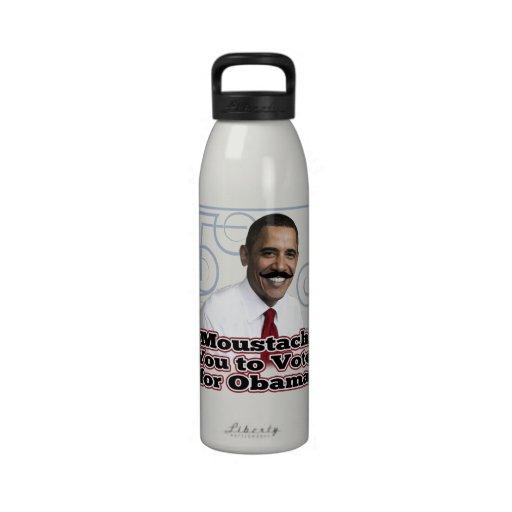 Funny Obama Moustache Drinking Bottles