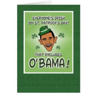 Funny Obama or O'Bama St. Patrick's Day Card