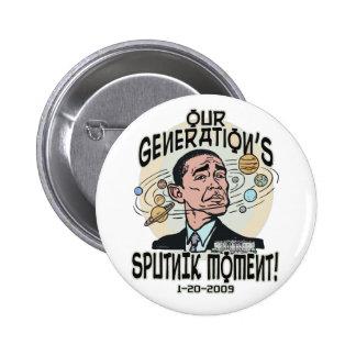 Funny Obama Sputnik Moment Pinback Buttons