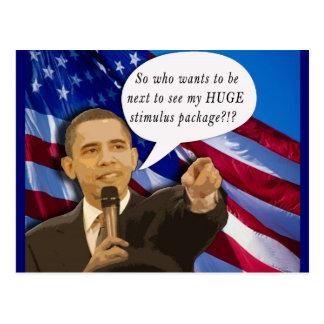 Funny Obama Stimulus Package Joke! Postcard