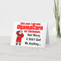 Funny ObamaCare Christmas Greeting Holiday Card