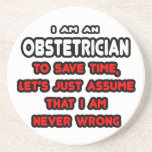 Funny Obstetrician T-Shirts and Gifts Drink Coasters