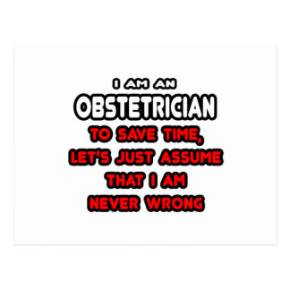 Funny Obstetrician T-Shirts and Gifts Postcard