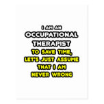 Funny Occupational Therapist T-Shirts and Gifts Postcard