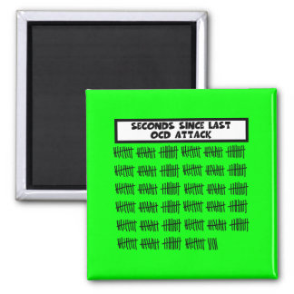 Funny OCD 2 Inch Square Magnet