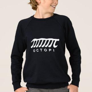Funny octopi math nerd white and grey sweatshirt