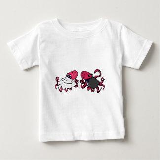 Funny Octopus Bride and Groom Wedding Art Tees