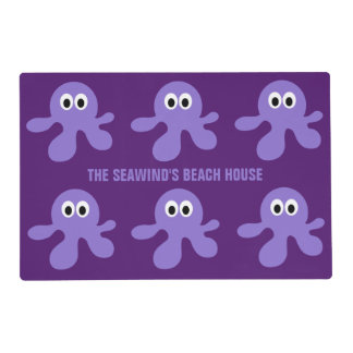 Funny Octopus custom placemats