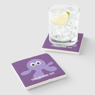 Funny Octopus custom stone coaster