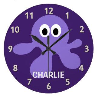 Funny Octopus custom wall clock