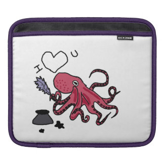 Funny Octopus Expressing Love iPad Sleeves