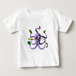 Funny octopus holding food items baby T-Shirt