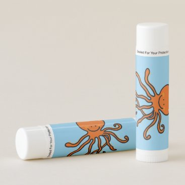 Beach Themed funny octopus lip balm