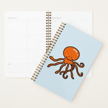 Beach Themed funny octopus planner