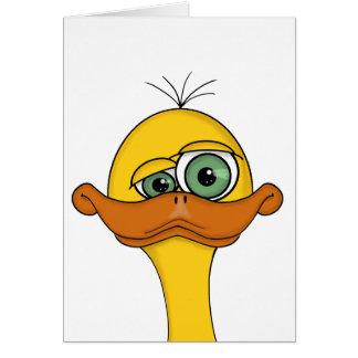 Funny Odd Duck Cartoon Card