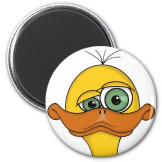 Funny Odd Duck Cartoon Magnet