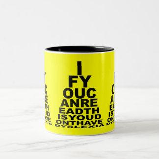 Funny offensive dyslexic Two-Tone coffee mug