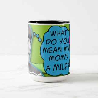 Funny Offensive Humor Parody Sketch Comedy Website Two-Tone Coffee Mug
