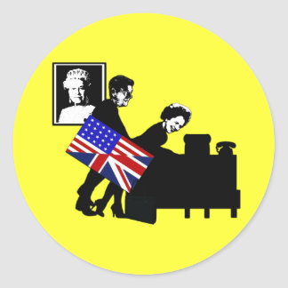 Funny,offensive Mrs Thatcher Classic Round Sticker