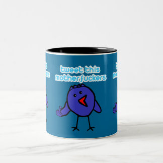 Funny,offensive twitter Two-Tone coffee mug