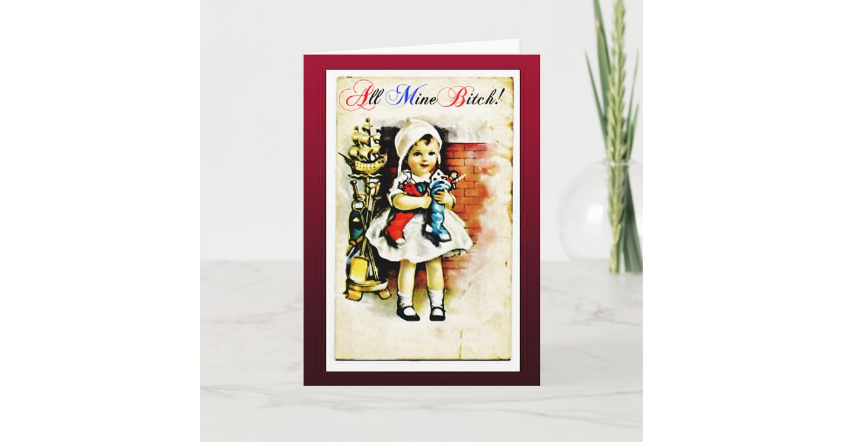 Funny Offensive Vintage Christmas Card Zazzle Com