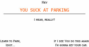 Learn to park business cards templates zazzle funny offensive you suck at parking business cards colourmoves