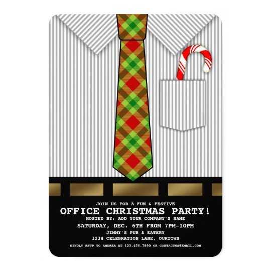 Funny Office Christmas Party Invitation Zazzle Com