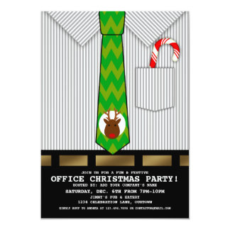 Funny Office Christmas Party Personalized Announcements