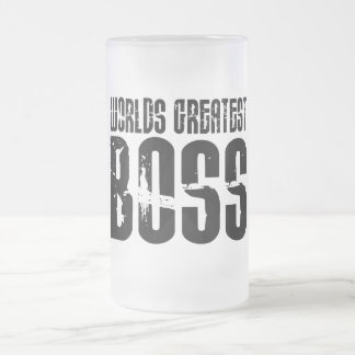 Funny Office Humor Bosses : World's Greatest Boss 16 Oz Frosted Glass Beer Mug