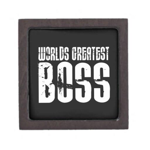 Funny Office Humor Bosses : World's Greatest Boss Premium Keepsake Box