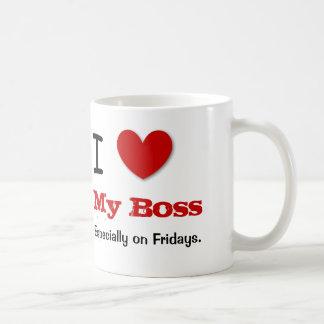 Funny Office Humor I Love MY BOSS V15 Coffee Mug