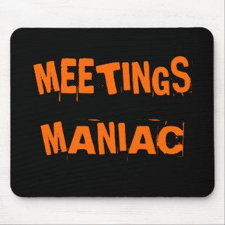 Funny Office Humor Meetings Maniac Joke Name Gift Mouse Pad
