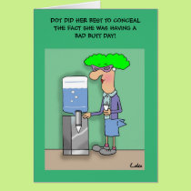 Funny office humour personalised Greeting Card